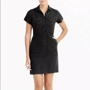 J. Crew Drapey Oxford Dress, Black, Size 6